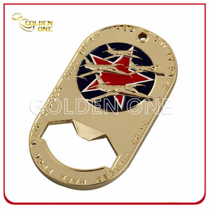Creative Design Gold Plated Soft Enamel Bottle Opener
