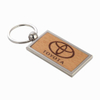 Creative Design Engrave Color Fill Wooden Key Chain
