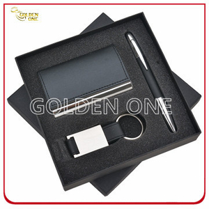 Fashion PU Leather Card Holder and Key Chain Business Gift