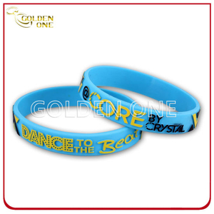Customized Embossed Printed Convex Design Silicon Wristband