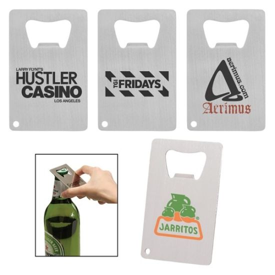 Pocker Card Personalized Engraved Metal Beer Bottle Opener