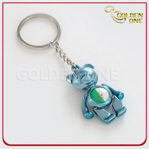 Colorful Custom Bear Metal Keychain