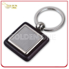 Fancy Style Wooden Key Chain with Square Shape Metal