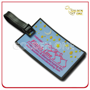 Hot Selling 3D Mold Injection Soft PVC Luggage Tag