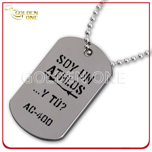 Customized Debossed Soft Enamel Chrome Plated Metal Dog Tag