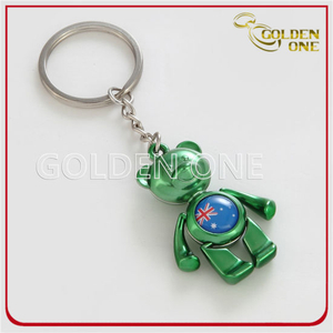 Custom Logo Lovely Bear Metal Keyring