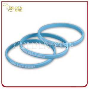 Factory Supply 1/4 Inch Blank Printed Color Silicone Bracelet