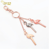 Promotion Gift Fancy Design China Wholesale Enamel Souvenir Leather Name Tag Keyring Metal Key Chains