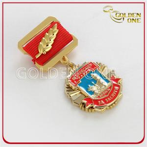 Custom Souvenir Gift Gold Plated 3D Engraved Military Metal Emblem