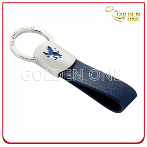 Fine Quality Blank Leather Keyring for Promotional Use