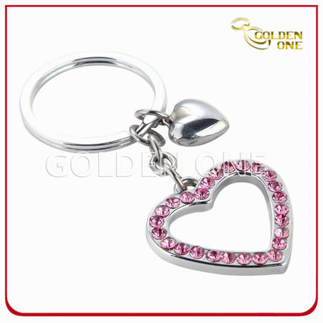 Promotion Souvenir Metal Key Chain with Metal Charm