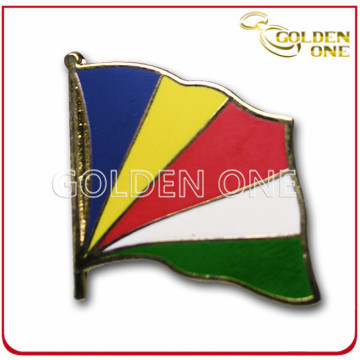 Customized Die Casting Soft Enamel Colorful Flag Pin Badge
