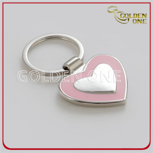 Quality Polished Heart Shape Soft Enamel Metal Keychain
