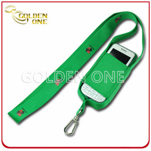Customized Printed Nylon Fabric Lanyard for Mobile Phone Holder