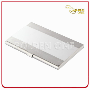 Shiny Folding Flip Type Metal Name Card Case