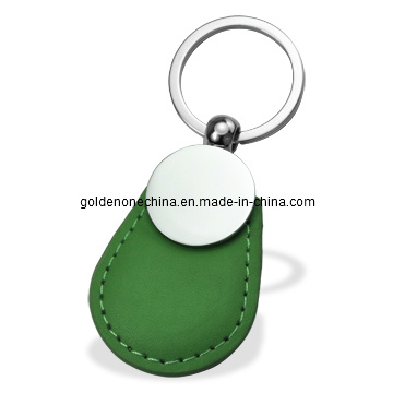 2017 New Design Grid Pattern PU Leather Key Ring