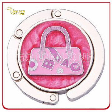 Fancy Design Circle Foldable Metal Handbag Hook for Lady