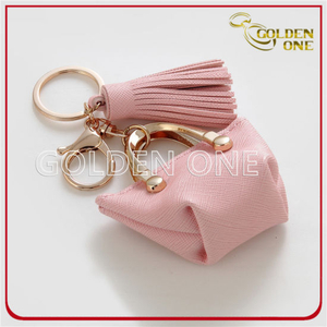 Fancy Design High Quality Genuine Leather Keychain