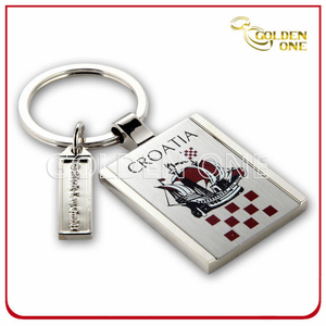 High Quality Custom Full Color Printed Metal Keyholder