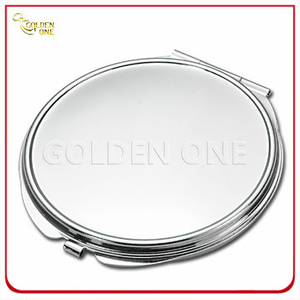 Blank Polish Chrone Circle Shape Metal Compact Mirror