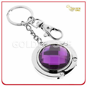 Best Seller Round Design Folding Bag Holder with Keyring