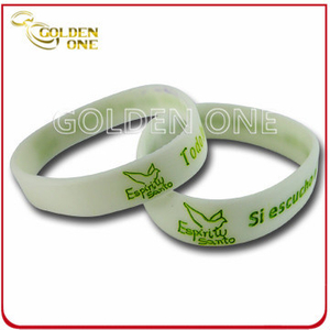 Promotion Gift Custom Glow in The Dark Silicone Bracelet