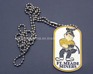 Personalized Stamped Stainless Steel Soft Enamel Dog Tag (DT08)