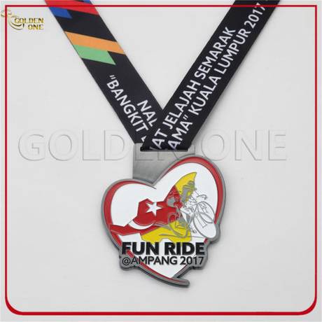Custom Antique Silver Fun Riding Compition Sport Medal