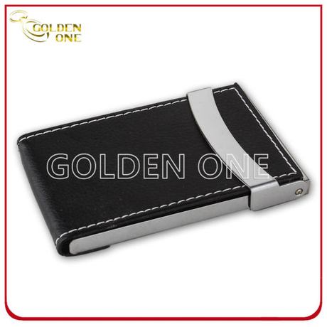 Promotion Gift Black Genuine Leather Name Card Case