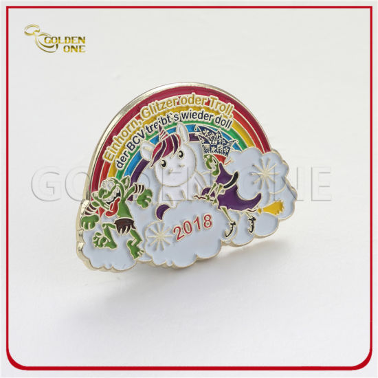 Cut Out Design Soft Enamel Baseball Glitter Metal Lapel Pin
