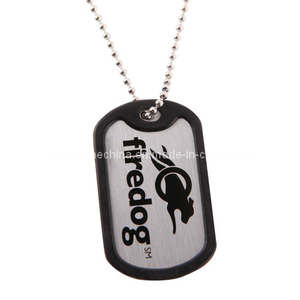Factory Supply Custom Printed Dog Tag with Silicon Rim