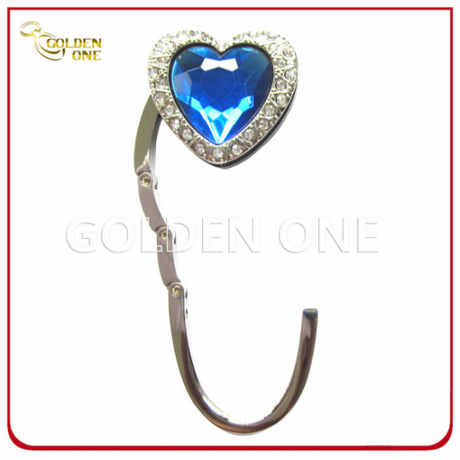 Gliffer Finish Metal Folding Purse Holder with Heart Shape