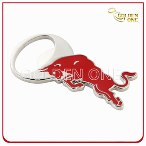Custom Bull Shape Soft Enamel Metal Bottle Opener for Souvenir Gift
