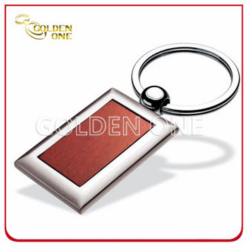 Factory Supply Superior Square Shape Wooden Keychain
