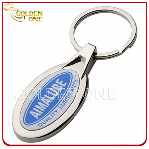 Promotion Cheapepoxy Domed Logo Metal Key Ring