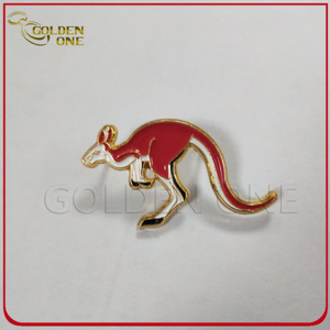 Antique Plating Custom Cute Kangaroo Metal Enamel Pin