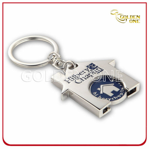 Personalized Zinc Alloy Metal Trolley Token Coin Key Holder