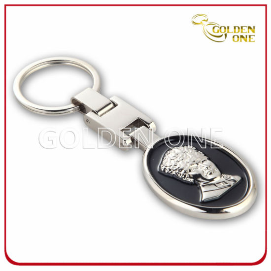 Factory Supply Nickel Plated 3D Design Metal Key Tag