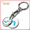 Debossed Coloring Logo Double Metal Trolley Coin Keyring (CH05-10)