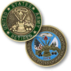 Custom Antique Bronze Finish Us Army Souvenir Coin (CC09)
