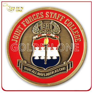 Soft Enamel Wave Cut Custom Souvenir Coin