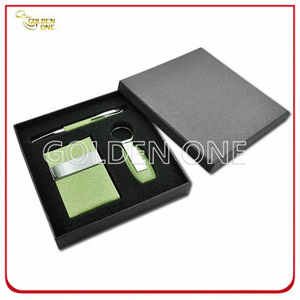 Colorful Leather Card Holder & Key Chain Gift Set