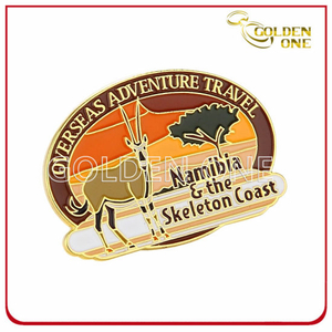 Gold Plated Customized Design Soft Enamel Metal Badge
