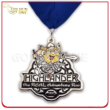 Creative Design Nickle Finish Soft Enamel Metal Medal