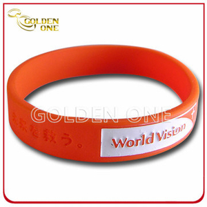 Special Design Custom Embossed Logo Silicone Rubber Wristband