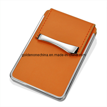 Promotional Hot Sale Brown Leather Name Card Case
