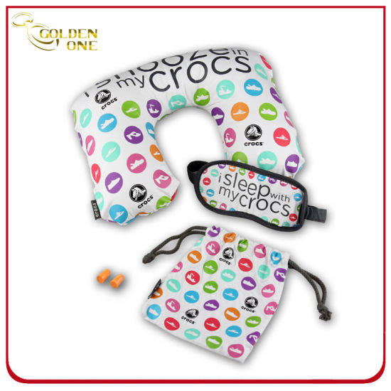Fashion design Air Pillow Eyeshade and Earplugs Travel Set