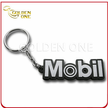 Fashion Design Embossed Coloring Soft PVC Key Ring