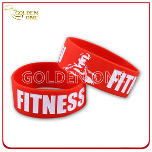 Promotion Gifts Cheap Price Logo Color Fill Rubber Bracelet