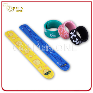 Factory Price Different Cartoon Pattern Silicone Snap Wristband